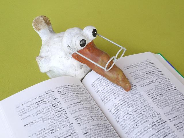 pták se slovníkem